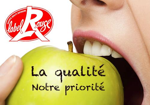 La qualité, notre priorité